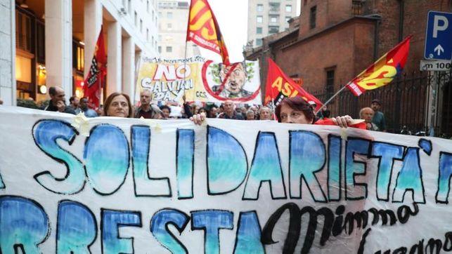 Manifestación en solidaridad con Mimmo Lucano del sábado 7 de octubre en Roma