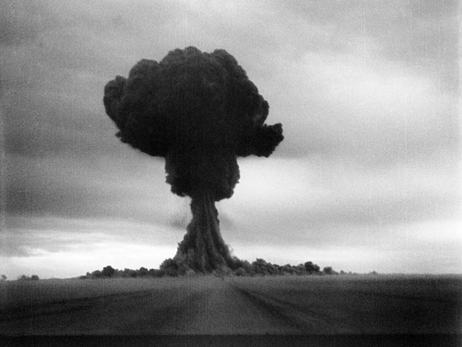 Prueba de la primera bomba atómica soviética.
