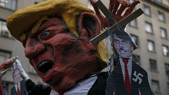 trump marcha chile