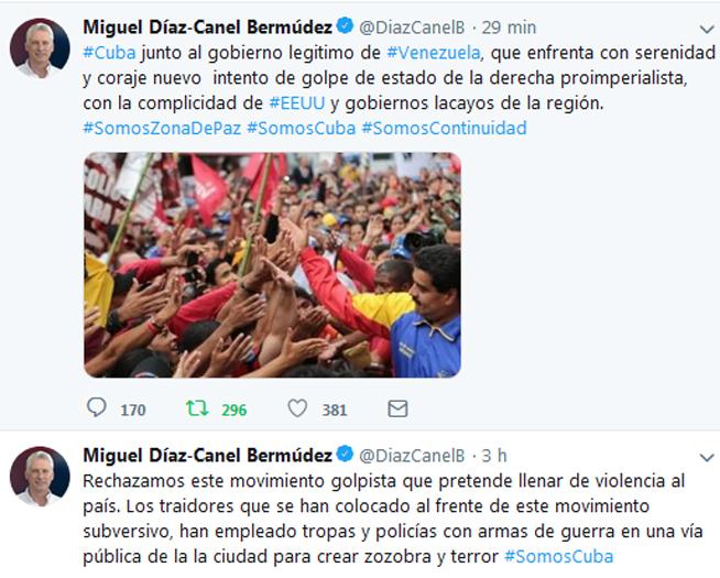 Rechaza Cuba intento de golpe de Estado en Venezuela