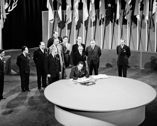 The San Francisco Conference, 25 April - 26 June 1945: Mexico Signs the United Nations Charter