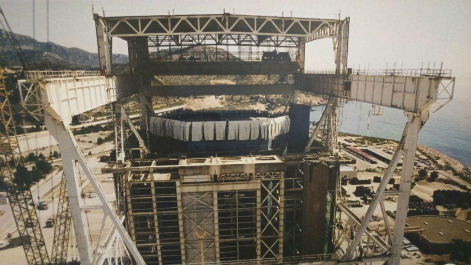 Central nuclear Vandellós I durante las obras de desmantelamiento