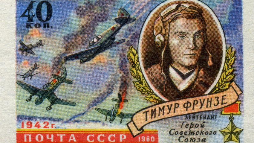 7 épicos sellos soviéticos de la Segunda Guerra Mundial decorados con aviones de combate