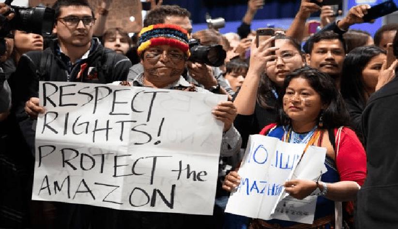Representantes indígenas exigieron ante el COP-25 una moratoria sobre la explotación de petróleo en la Amazonía