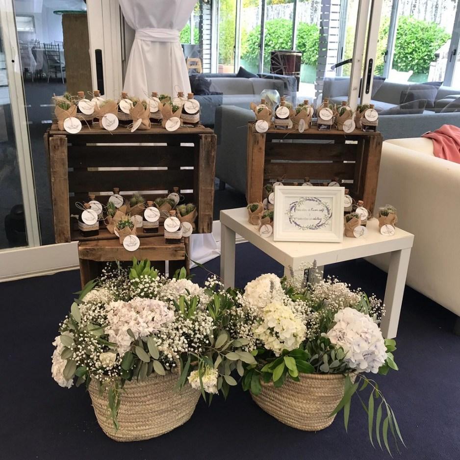 Rincón detalles boda campestre