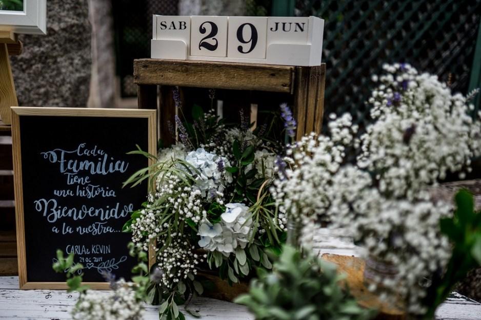 Rincon de bienvenida boda campestre 2