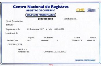 renovacion de matricula de empresa el salvador, registro de comercio el salvador, inscripcion de empresa registro de comercio