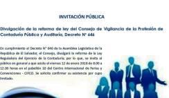 divulgacion reformas a la ley de contaduria publica el salvador, reformas ley de contabilidad el salvador, reformas ley cvpcpa