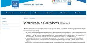 comunicados a contadores el ministerio de hacienda