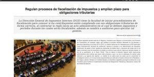 prorroga amnistia fiscal, regulacion de fiscalizacion dgii