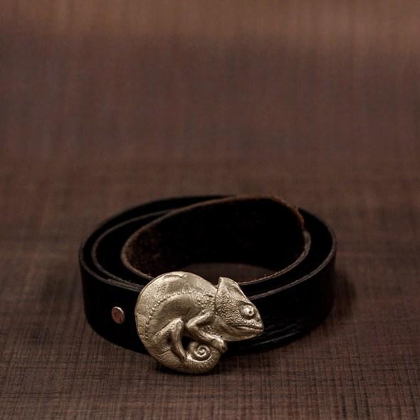 Hebillas para cinturones de en forma de camaleón