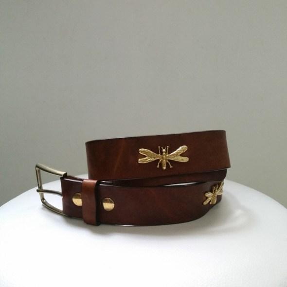 Cinturón marrón libélulas