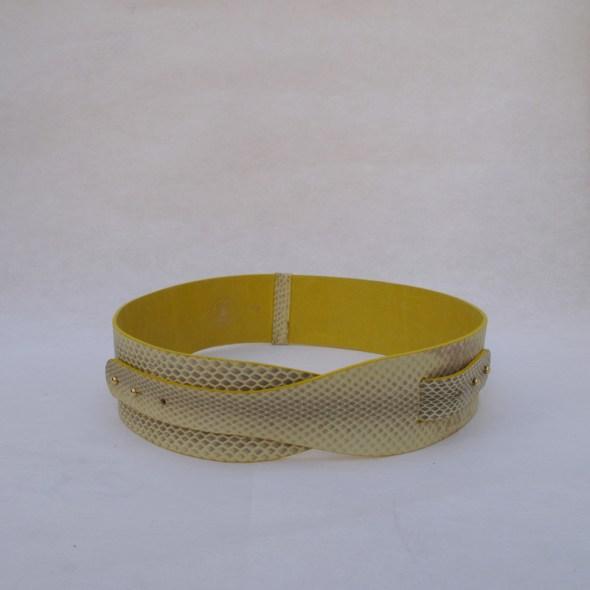 cinturon para vestido amarillo