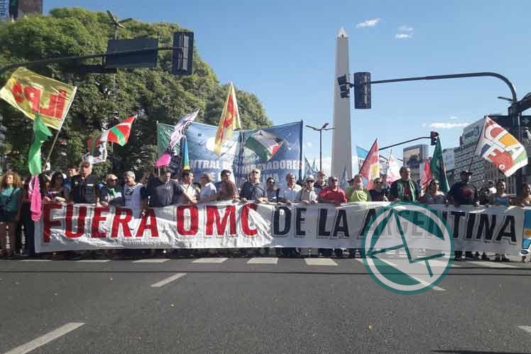 Los movimientos Sociales marcharon contra la cumbre de la OMC