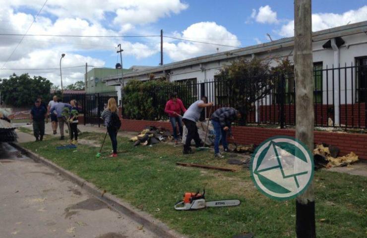 Acciones en Berisso ante el temporal del fin de semana 04