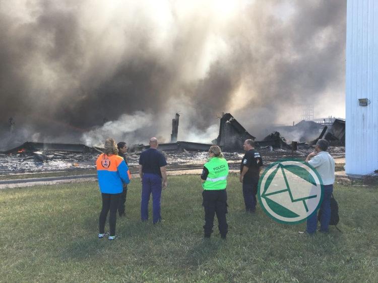 El Municipio de La Plata analiza las causas del incendio de MAFISSA yhacen trabaja peventivo en la zona