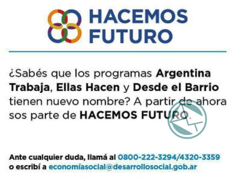 Encuestas y capacitaciones del Programa Hacemos Futuro