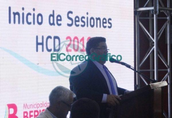 Nedela hizo hincapié en sus 38 meses de gestión en el discurso inaugural del Concejo Deliberante 08