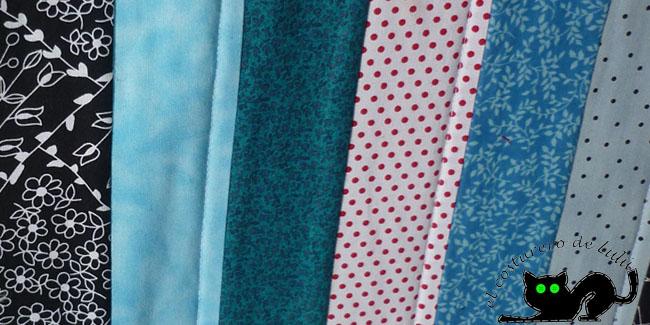 Algunas de las telas que elegi para mi proyecto
