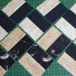 Cómo uno las piezas del quilt en zig-zag