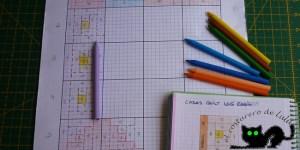 Sacando los patrones del quilt de casitas