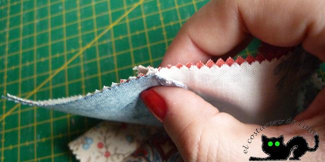 Asegúrate de colocar bien las costuras
