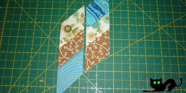 Colocamos las piezas para marcar y coser
