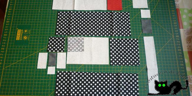 Colocamos las piezas para saber donde van situadas en nuestra composición
