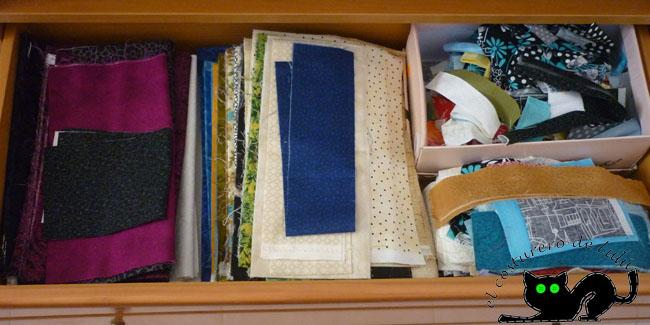 Mi cajón con las telas ordenadas