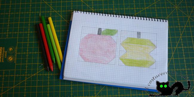 Este es el patrón que hice para las manzanas