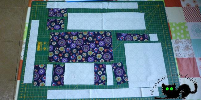 Estas son las telas que vamos a usar para el gato