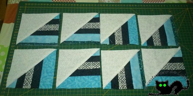 Obtenemos los cuadrados formados por triángulos