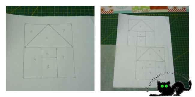 Calcamos el patrón en el papel vegetal
