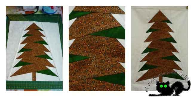 Un pequeño collage con el tapiz del árbol
