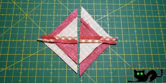 Cosemos dos triángulos juntos
