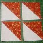 Cuadrados formados por triángulos
