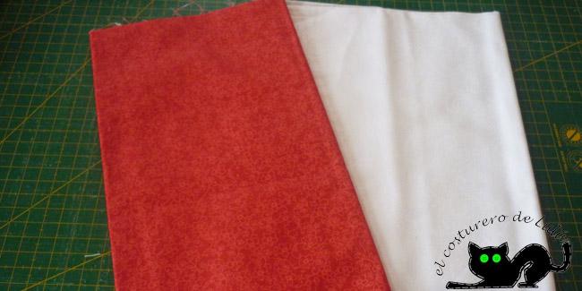 Estas son las dos telas que vamos a usar