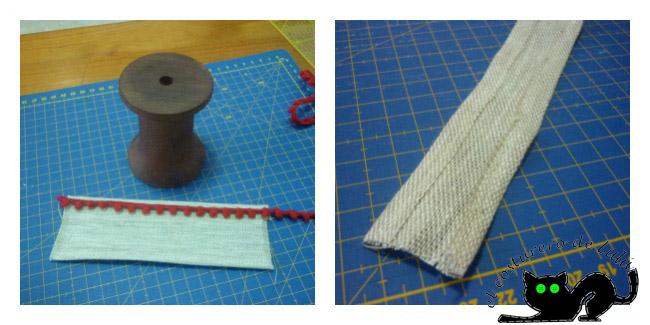Preparamos la pieza que cubrirá el cuerpo de la bobina