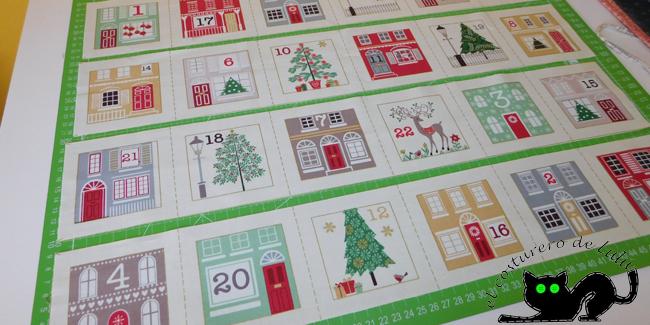 Tiras de casitas Calendario de adviento de patchwork