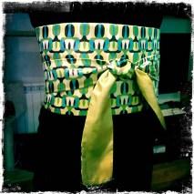Obi en seda verde