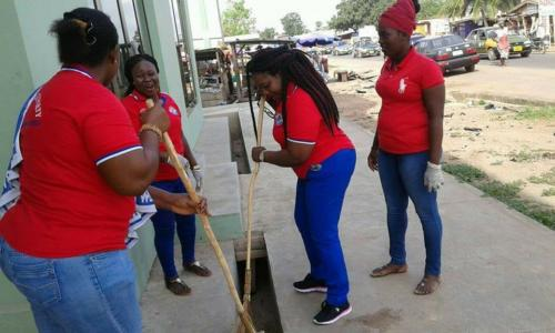 ELC Cleaning Exercise At Amasaman