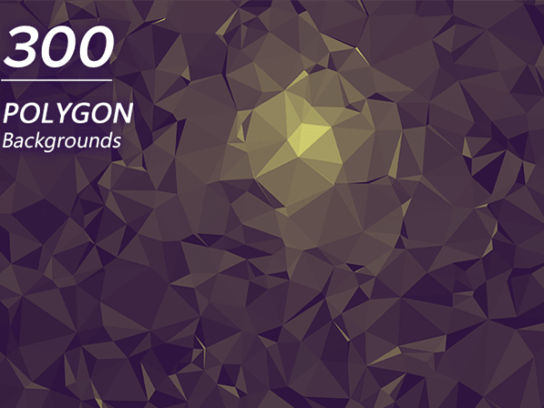 300 Polygon Backgrounds