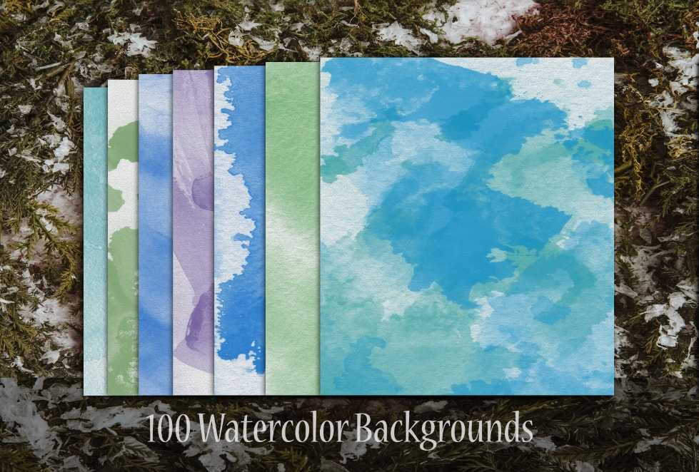 100 Watercolor Backgrounds-min-1