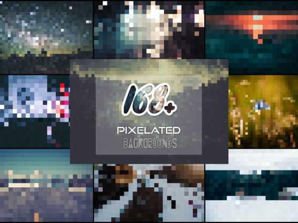 168 Pixelated Backgrounds