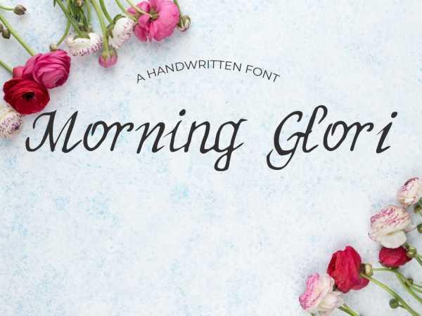 MorningGlori Font