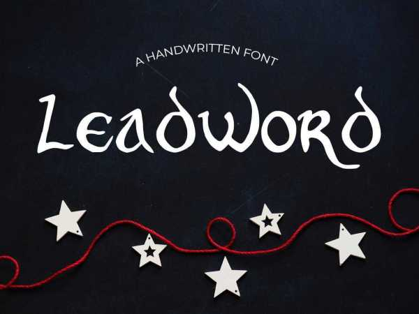 Leadword Font
