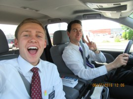 My companion Elder Iacopucci from Belmont New Hampshire!