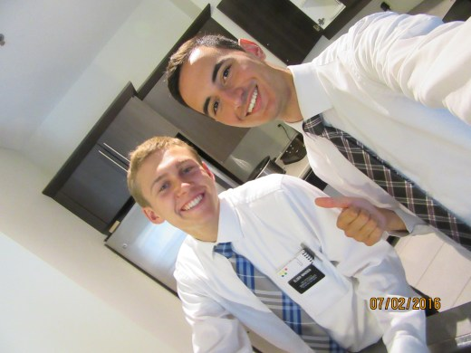 Elder Portellano. Basically the French version of me! We have lots of fun together!!