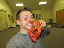 Eating some Lobster!!! (not gonna lie, I was very fishy smelling after! hahah)