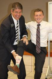 Pres. Stutz must love the socks!